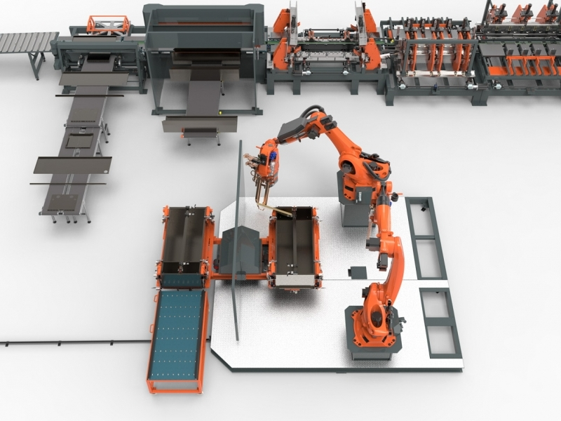 Production lines for sheet metal working